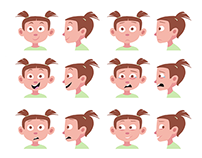 Kim - Character designs x6