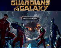 Guardians of the Galaxy - Theatrical Landing Page UI