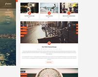 Bazinga - Blog/Portfolio/Profile Wordpress Theme
