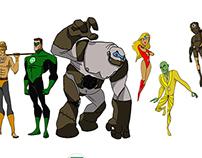 Character Design 2D - Green Lantern Project