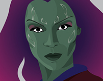 Gamora Illustration