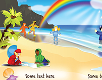 Test image for commercial project. Children book illust
