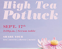 High Tea Social Committee Poster