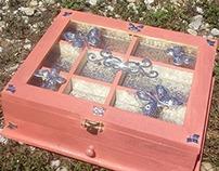 Glass top Jewelry Box