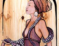 """Of Water & Wings"" -- Acrylic Paintings on Wood"