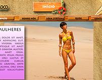 Modelo de Site - Moda Praia
