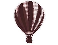 Halftone Hot Air Balloon