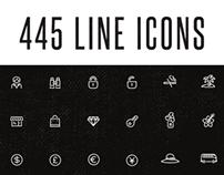 445 Line Icon Set
