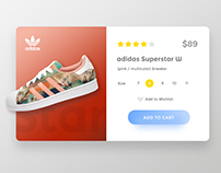 UI Challenge 01 - Just for fun with adidas