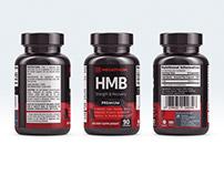 Megathom – Supplement Packaging Label Design and Logo