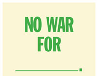 No War For poster by Joshua N. Hardisty
