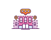 Building Icon Design Illustration
