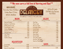 King of Delancey- Menu Design