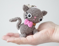 Amigurumi cat kitty