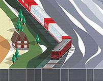 Ride Train in Alps