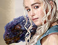 Mother of Dragons - Commission work
