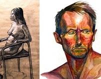 Figure drawings / Animal sketches