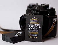 Viktor Dobai photographer's visual identity
