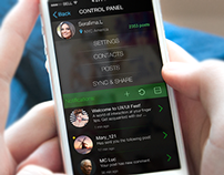 Social app Control panel