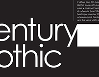 Century Gothic - Type Poster