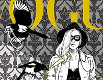 COVER MOCK UP: Thieving magpies for Vogue.