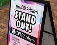 CFL Printers: Sidewalk Sign