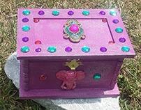 Jeweled trinket box with Elephant, Ring Bearer Box