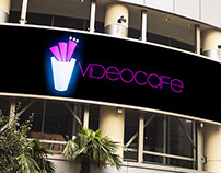 Videocafe \ billboard led + isologo design by Claure