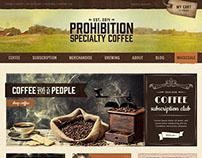 E-Commerce Web Site Design for Coffee Client