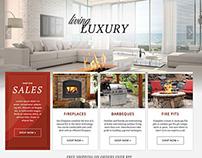 E-Commerce BBQ & Hearth Web Design