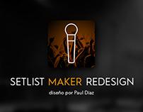 Setlist Maker Redesign Concept