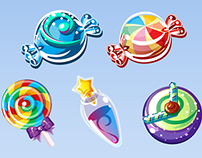 Power-ups Icons (Candypot game)