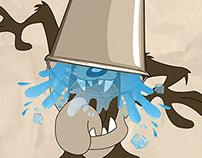 ALS Ice Bucket Cartoon Challenge
