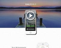 Daily Bible - Mobile App Web Design