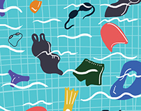 swimming pool  handkerchief