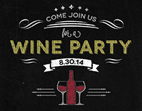Chalkboard Wine Party Invitation Flyer