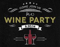 Chalkboard Wine Party Invitation Flyer