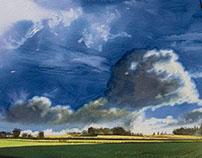 Plaine & nuages