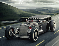 VRED, Ford Tudor Hot Rod | CGI, Photography, Retouching