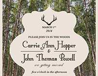 Wedding Invite | In the Woods