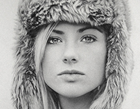 Graphite Pencil Drawing of Agata by Julio Lucas
