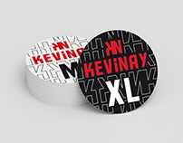 Kevinay - Sticker size