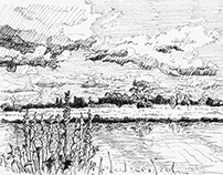 Ditton Meadows Sketch - making of
