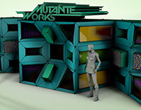 MutanteWorks 3D video Mapping project