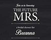 Wedding Shower Invite, 2014