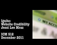 Web Credibility, Ignite Presentation