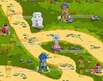 2D Tower Defense Game Map