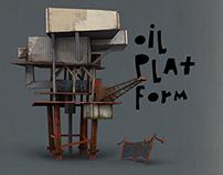Oil platform-game object