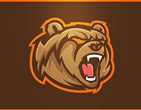 Grizzlies v2 - Mascot Logo