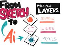 Sketching to Illustrator
